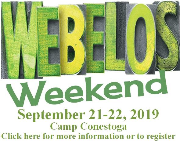2019 Webelos Weekend Website Image